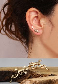 Hey, I found this really awesome Etsy listing at https://www.etsy.com/listing/195434758/gold-ear-pin-lizard-ear-cuff-ear-climber