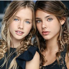 Laneya Grace & some other pretty girl, Laura Neimas. Laura is of Spanish/Polish ancestry. A well know model, of Saint Claire children's Fashions! Beautiful Little Girls, Beautiful Children, Beautiful Eyes, Beautiful People, Teen Models, Young Models, Child Models, Foto Fantasy, Beauté Blonde
