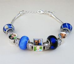 Make your own photo bead bracelet. Perfect Mother's Day gift idea.