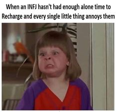 Humor memes hilarious truths 16 ideas for 2019 Infj Mbti, Intj And Infj, Isfj, Infj Personality, Infj Type, Introvert Humor, Funny Single, Frases, Comedy Memes