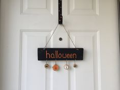 Halloween Rustic Hanging Wood Sign; Halloween Decor; Rustic Halloween Decor…