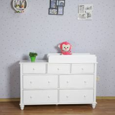 Baby Change Table Drawers White