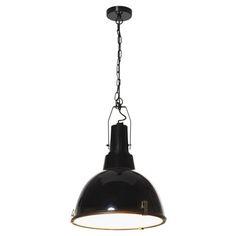 Mort Bay Industrial Pendant Clip Lamp Black Metal