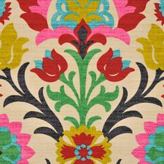 Modern Ikat Fabric Upholstery Fabric by the by PopDecorFabrics