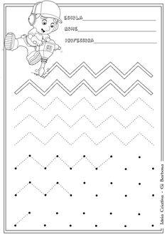 Atividade Coordenação Motora Manny Mãos à Obra Tracing Worksheets, Alphabet Worksheets, Kindergarten Worksheets, Worksheets For Kids, Motor Activities, Physical Activities, Preschool Activities, Preschool Writing, Writing Activities