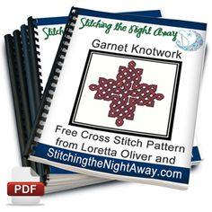 Garnet Knotwork - free cross stitch pattern