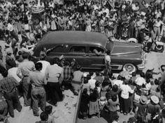 IMAGEN DE ABRIL DE 1957. Entierro de Pedro Infante en el Panteón Jardín de la Ciudad de México (Foto: Archivo EL UNIVERSAL)