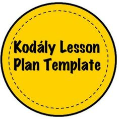 This lesson plan template is perfect for any Kodály teacher! Check out this free product.