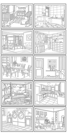House Colouring Pages, Barbie Coloring Pages, Free Adult Coloring Pages, Free Printable Coloring Pages, Coloring Book Pages, Cartoon Coloring Pages, Free Printables, House Template, Kids Class