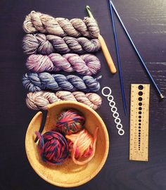 44/365 Flat Lay These are a few of my favorite things... #FMSPAD #fms_flatlay #yarn #knitting #instaknit #crochet