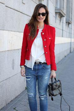 red tweed jacket -ladyaddict