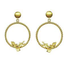 Cupid Angel of Love Earrings – Gold Plated Silver Romantic Jewelry, ideal Love Wife - Girlfriend Gift #romanticearrings #giftforgirlfriend #angelearrings #giftforwife #cupid #loveearrings #goldearringsgift #girlfriendgift #eros #greekearrings #romanticjewelry #anniversaryearrings