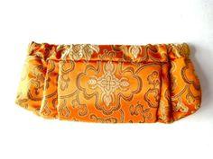 Fleur Clutch: Made of silk and cotton with a metal internal frame. $75  #Handbag #Clutch #Silk