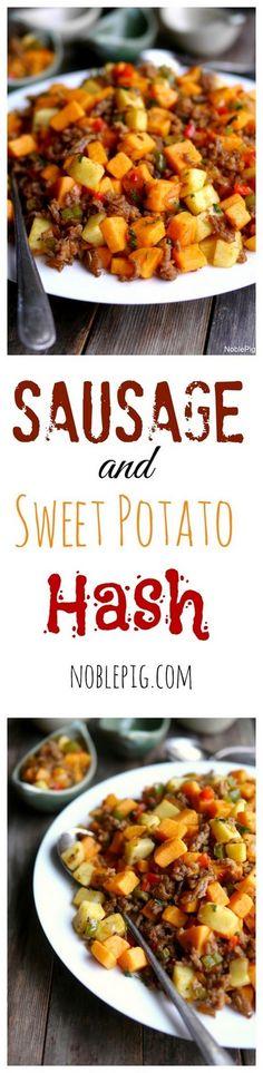 Sausage and Sweet Potato Hash - using my own homemade turkey sausage!