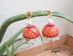 Paper Jhumka Red( SOLD)
