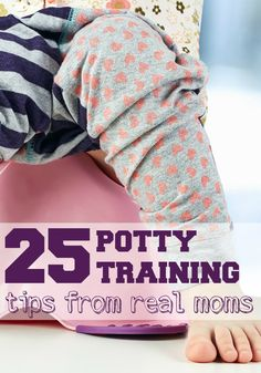 While everyone says that our kids won't go to college in diapers, that's not always the most helpful advice when you're in the thick of potty training. Luckily, there are lots of moms that have already mastered the potty training challenge and are more than willing to share their best tips. 25 Potty Training Tips from Real Moms!