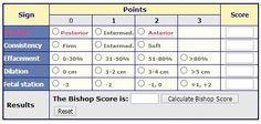 Bishop Score calculator: If you are contemplating induction, figuring out your Bishop Score can help you estimate whether your induction is likely to lead to a successful vaginal birth.