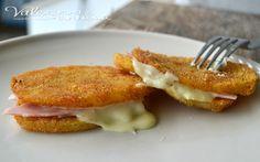 Cotolette di patate con prosciutto e formaggio