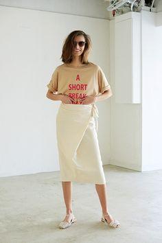 "FRAMeWORK LOOKBOOK ""summer conscious"" ファッション通販ベイクルーズストア(BAYCREW'S STORE) Shirt Dress, Blouse, T Shirt, Editorial Photography, Editorial Fashion, Logo Design, Ootd, Style Inspiration, Outfits"