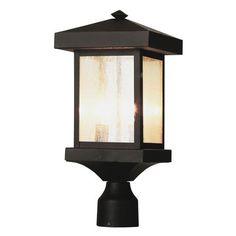 Trans Globe Lighting Two Light Weather Bronze Outdoor Post Light