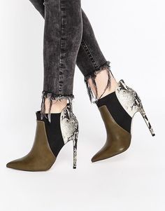 Buy ASOS ENVIOUS OF YOU Pointed Chelsea Ankle Boots at ASOS. Get the latest trends with ASOS now. High Heel Boots, Bootie Boots, Shoe Boots, Ankle Booties, High Heels, Zapatos Shoes, Shoes Heels, Fashion Heels, Fashion Boots