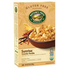 Shop the best Nature's Path Organic Sunrise Cereal - Crunchy Vanilla oz Pkg products at Swanson Health Products. Trusted since we offer trusted quality and great value on Nature's Path Organic Sunrise Cereal - Crunchy Vanilla oz Pkg products. Gourmet Recipes, Whole Food Recipes, Dog Food Recipes, Healthy Recipes, Healthy Foods, Healthy Sweets, Free Recipes, Bran Cereal, Granola Cereal