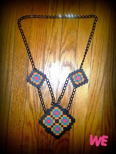 Geometric Tribe perler bead necklace by WEcustoms