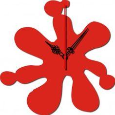 Red Abstract  #clock #wall #design #Design 'O' Clock #desado.com