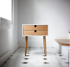 Купить Стильный журнальный стол - белый, столик, стол, лофт, стильный, журнальный столик