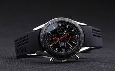Its all.about the rubber strap for me......   Tag Heuer Carrera Black Dial Black Rubber Steel Mens Watch