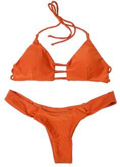 1c8d9ca2f4 Depot. Orangefarbener Bikini ...