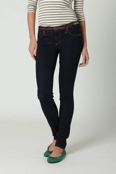 I love skinny jeans that leave some room to scrunch at the bottom