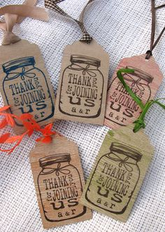 Mason Jar Wedding Tags by cmariedesigns on Etsy, $0.50
