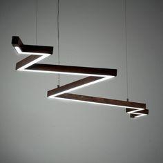 Bolt Pendant hollis morris at Lightology Lighting Concepts, Linear Lighting, Home Lighting, Modern Lighting, Lighting Design, Lighting Ideas, Led Pendant Lights, Pendant Lamp, Pendant Lighting