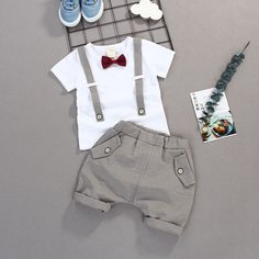 Summer Kids Boys Bow Clothes Sets Baby Gentleman High Qulity Short T shirt + Pants Toddler Boy Clothing Casual Kids Outfits Baby /collections/boys-clothing Baby Outfits, Toddler Boy Outfits, Toddler Boys, Kids Boys, Kids Outfits, Baby Boys, Kids Dress For Boys, Carters Baby, Toddler Chores