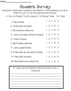 student survey FREE student surveys to gain insight into your students lives . School Counselor Forms, Middle School Counseling, Elementary School Counselor, School Social Work, Elementary Schools, Upper Elementary, High Schools, Counseling Office, Primary Education