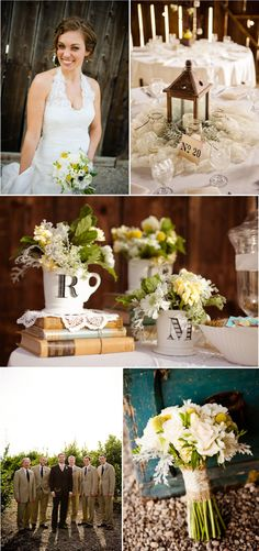 here's your burlap and lace around the bouquet! :)