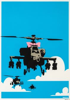 Bid now on Happy Choppers by Banksy. View a wide Variety of artworks by Banksy, now available for sale on artnet Auctions. Banksy Prints, Banksy Artwork, Street Art Banksy, Kunst Online, Online Art, Sir Anthony, Bansky, Art En Ligne, New York