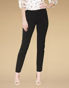 Bobby Cigarette Regular Trousers | Black | Monsoon