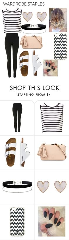"""""""black x white"""" by altxya on Polyvore featuring Topshop, TravelSmith, Tory Burch, Miss Selfridge, New Look, Kate Spade, Leggings and WardrobeStaples"""