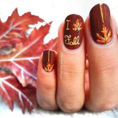 50 Stylish Fall Nail Designs That You Must Know And Try - Page 47 of 50 - Nail Art Design, Fall Toe Nails, Fall Acrylic Nails, Autumn Nails, Gel Nails, Nail Polish, Thanksgiving Nail Designs, Thanksgiving Nails, Cute Nail Colors, Fall Nail Colors
