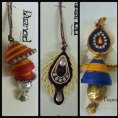 by Paranoid Quilling Rakhi, Rakhi Bracelet, Rakhi Making, Quilling Designs, Drop Earrings, Decoration, Crochet, Paper, Bracelets