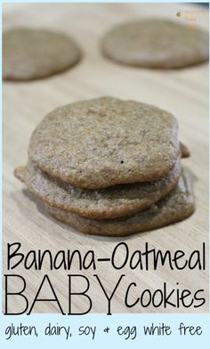 Banana Oatmeal Cookies for Baby Allergy-free recipe for homemade healthy Banana Oatmeal baby food cookies. Gluten free soy free dairy free egg white free The post Banana Oatmeal Cookies for Baby appeared first on Toddlers Ideas. Allergy Free Recipes, Baby Food Recipes, Cookie Recipes, Snack Recipes, Food Baby, Healthy Baby Food, Toddler Recipes, Baby Cookie Recipe, Banana Baby Food