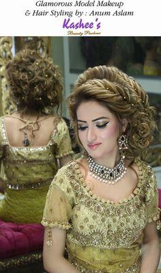 Glamorous hair style by Anum Aslam