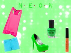 """""""Neon colors"""" by leklink on Polyvore"""