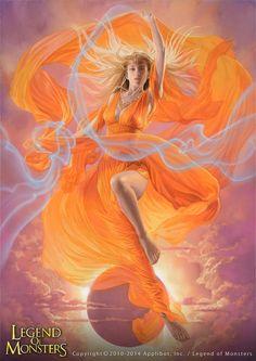 Artist: Tsuyoshi Nagano - Title: Goddess Fatima - Card: Unknown