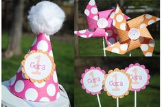 Party Hats by polkadotpinwheels on Etsy, $6.00
