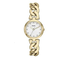 Fossil Olive Watch ($92) ❤ liked on Polyvore featuring jewelry, watches, fossil bracelet, buckle watches, fossil jewelry, adjustable bracelet and polish jewelry