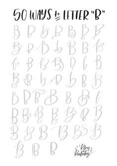 Fifty ways to draw B