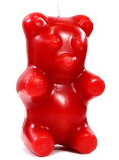 """Gummi Bear"" Skeleton Candle (Red) #InkedShop #bear #gummi #candle #novelty #skeleton"